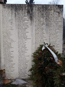 Сръбското войнишко гробище имена
